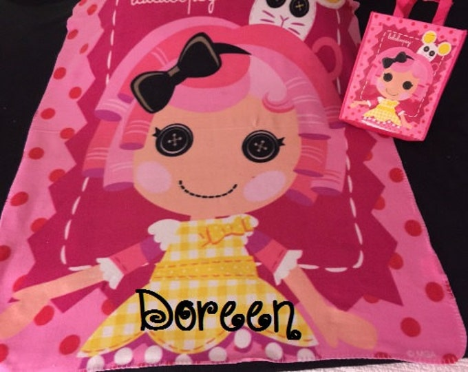 Lalaloopsy Personalized Kids Fleece Throw Blanket & Tote Bag - Monogrammed
