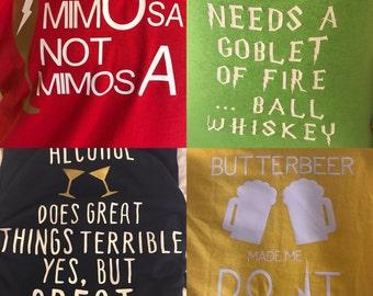 Harry Potter Drinking Shirts