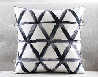 decorative pillow cushion cover black white pillow throw pillow sham