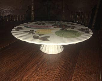 Vintage RED WING Tampico Cake Plate