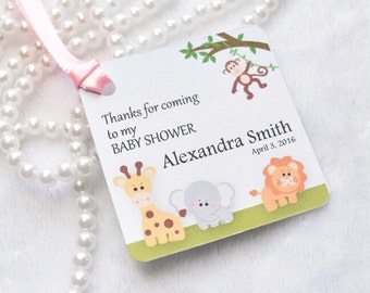 Baby Shower or Birthday favor tag - SAFARI set of 10 tags