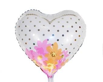 Foil Heart balloon  wedding dress