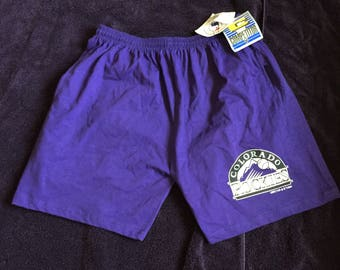 Vtg deadstock colorado rockies shorts MLB 90s baseball denver DS 1994