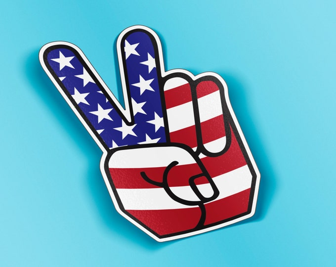 Peace Symbol Hand Gesture Vinyl Decal Sticker