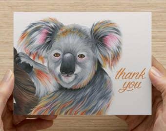 "Koala Bear Greeting Card - Set of 20 5.5x4"" folded cards"