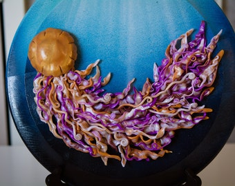 Handmade, Three dimensional jellyfish plaque