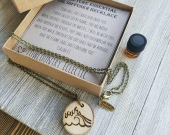 Isaiah 43 ORIGINAL Statement Essential Oil Diffuser Necklace //   FREE SHIPPING