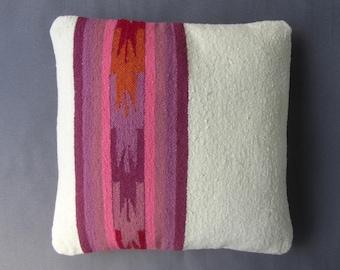 Cover pillow, pillow Peruvian, Peruvian textiles, Peruvian blanket, ethnic pillow, pillow woven Peruvian. (16 x 16 inches) (40x40cm) CR-161