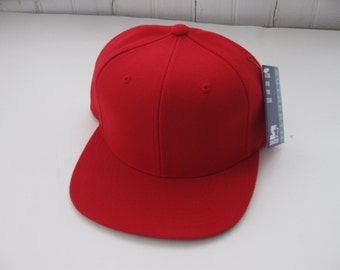 Vintage Starter Red Snapback Blank Hat Cap NWT RARE