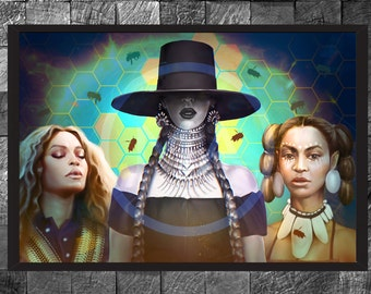 Beyonce Knowles Portrait Art Print Hip hop Formation Illustration