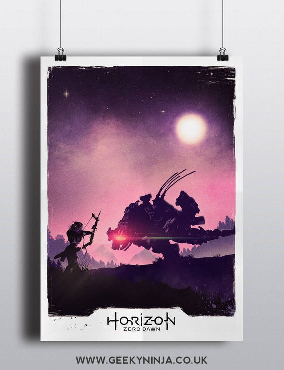 Horizon Zero Dawn Inspired Minimalist Poster- Video Game Wall Art - Video Game Poster Art,
