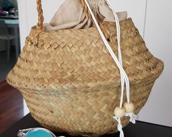Round basket bag. 100% ecologic - made in spain