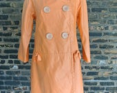 FREE SHIPPING || 80's Vintage || Bill Blass Signature || Bright Orange || Water Resistant Rain and Spring Jacket || 0321