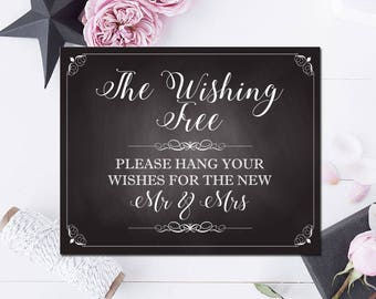 Wishing Tree -Chalkboard Sign- 8 x 10  Print - Printable - Instant download
