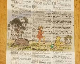 Winnie the Pooh & friends art print