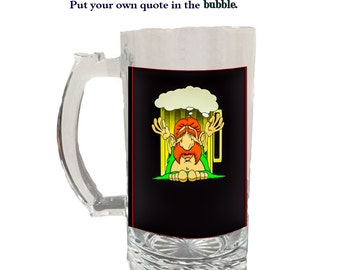 Glass Beer Stein 22336h