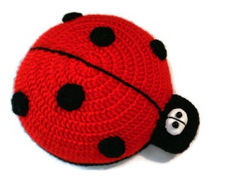 Ladybird crochet Ladybug amigurumi Spring Merry beetles Cheerful funny beetles Cute small insects Nice bug Gift for her & him Ready to ship