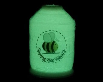 White Glow in the Dark Machine Embroidery Thread 1000 Metres Special Effect