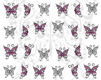 Butterfly Nail Art Nail water decals slides