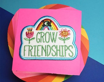 Grow Friendships - Iron on Patch