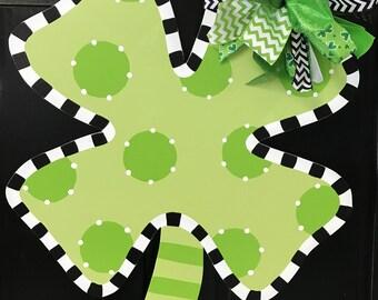 St. Patrick's Day, St. Patrick's Day Wreath, St. Patrick's Day Decorations, St. Patrick's Door Hanger, Shamrock Door Hanger