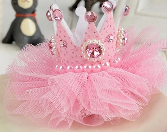 Princess Birthday crown hair clip
