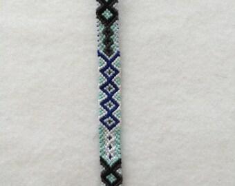 Icy Blue Diamond Friendship Bracelet
