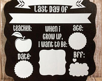 Last Day of school - Dry erase - dry erase sign - Last day of school - memories - photo prop -