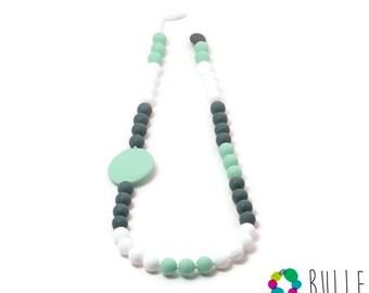 Silicone teething necklace - Glam Bruine