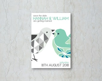 Love Birds Save the Date Card or Magnet
