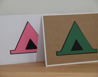 Tent Greeting Card.  Camping Card. Handmade Tent Card.  Blank Tent Card. Camping Trip Cards. Letters from Camp Cards.