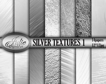 Silver digital paper Foil background metallic textures silver background metallic digital paper