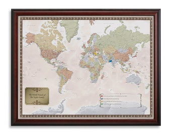 Personalized World Travel Map to Track Your World Adventures!