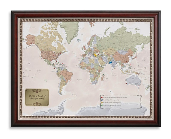Personalized World Travel Map to Track Your by MapYourTravels – Track Travel Map