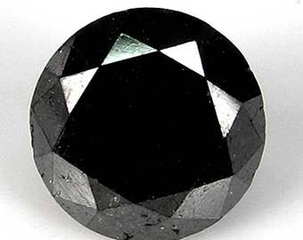 2.54cts 7.7mm Black Natural Loose Diamond