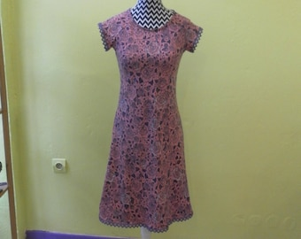 Organic cotton flower dress is hand-Made in France