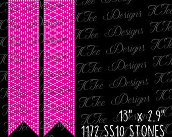Cheer Bow Rhinestone Template - SVG Design Download - Vector Cut File