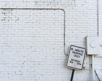White Brick Wall Photograph