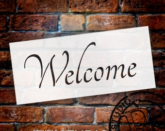 Word Stencil - Welcome - Graceful 16 x 8 - by StudioR12