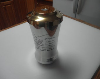 Vintage LS chinese decorative stainless steel thermos