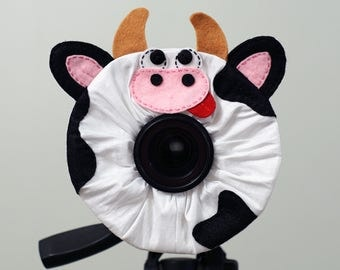 Camera Puppet, Lens Buddy, Camera Prop, Shutter Hugger, Camera Critter for Child Photographers as a Camera Accessory or Prop / Cow