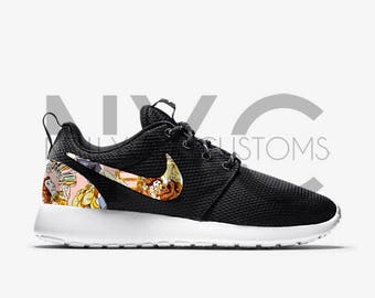 Beauty and the Beast Nike Roshe One Run Custom Men Women & Kids