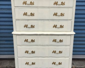 Tall French 6 Drawer Dresser