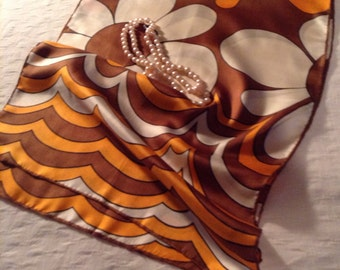 1960s vintage  Baar & Beards 1960's ladies silk scarf from Japan