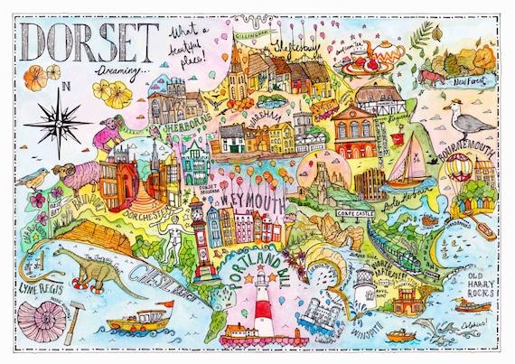 Dorset art print, Isle of Purpeck, Weymouth, Dorchester, Bournemouth Artwork