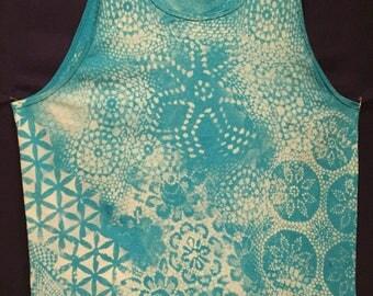 Jolly Blue Fractal Dye Tank Top