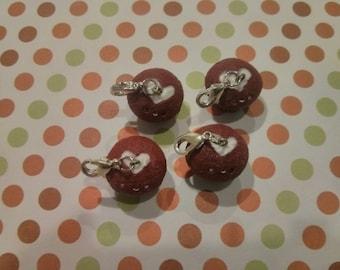 Hand-made red velvet heart cupcake