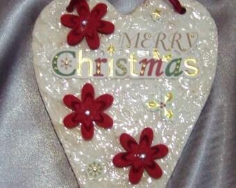 """Christmas heart """"Merry Christmas"""""""