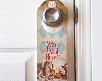 Alice in Wonderland Door Hanger - FREE SHIPPING