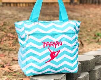 Gymnastic Bag - Personalized Gymnastic Bag - Personalized Gym Bag - Girls Gym Bag - Monogram Gym Bag - Gymnastic Mom - Gymnastic Tote Bag